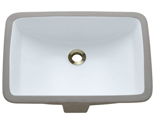 U1913-White Rectangular Porcelain Sink