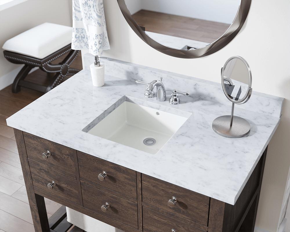 U2230 Bisque Rectangular Porcelain Sink