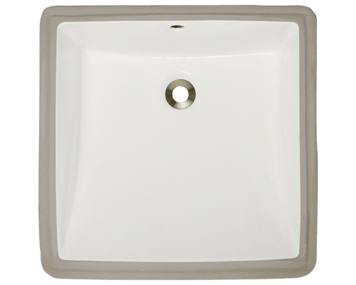 U2230-Bisque Rectangular Porcelain Sink