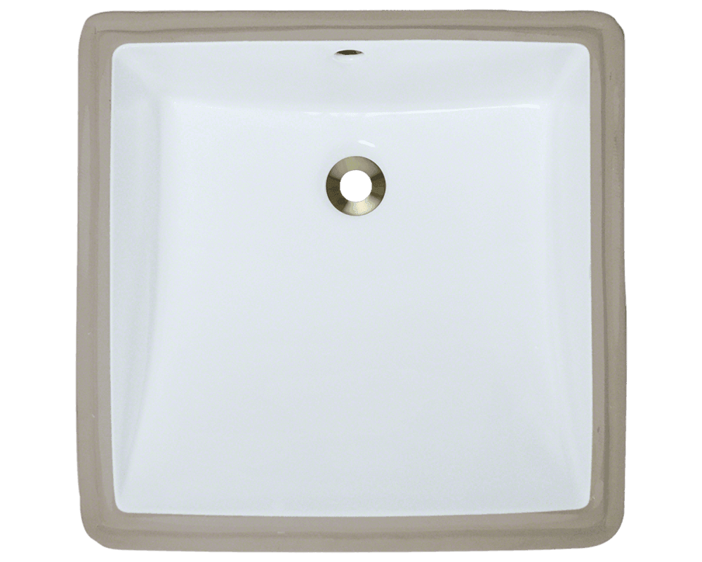 MR Direct U2230-White Rectangular Porcelain Sink