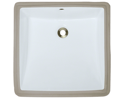 U2230 White Rectangular Porcelain Sink