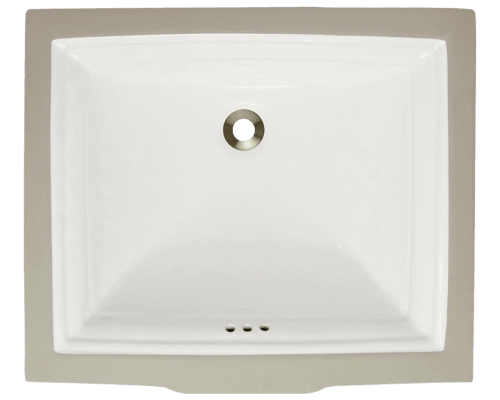 U2450-Bisque Rectangular Porcelain Sink