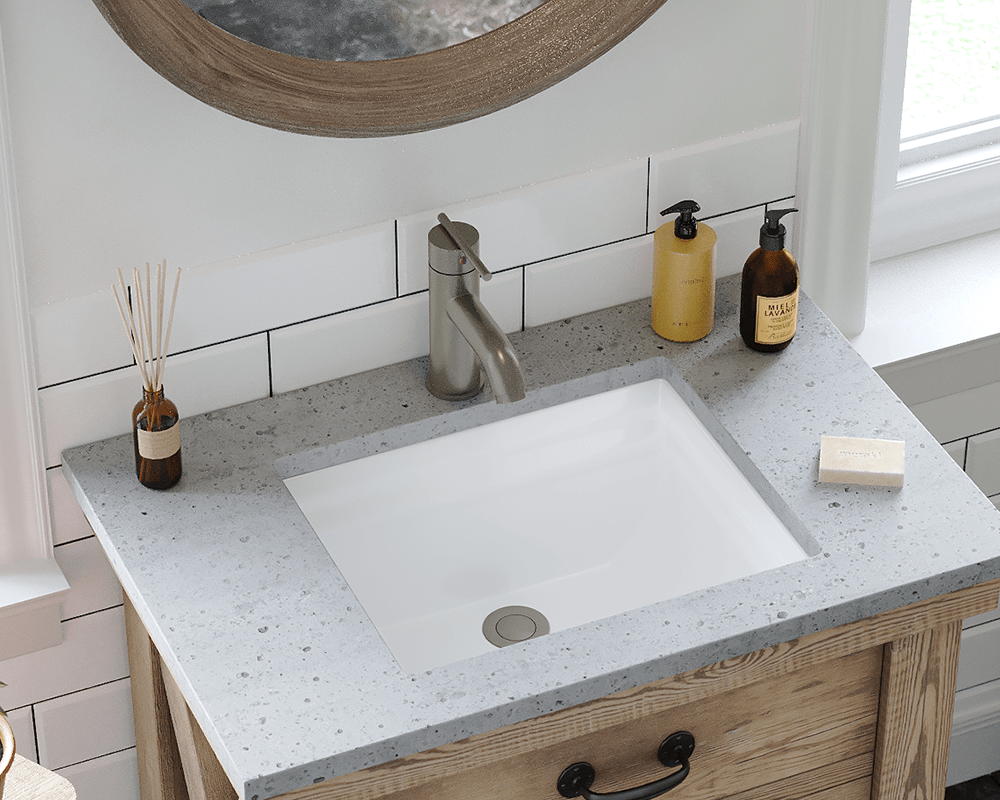 U2450 White Rectangular Porcelain Sink