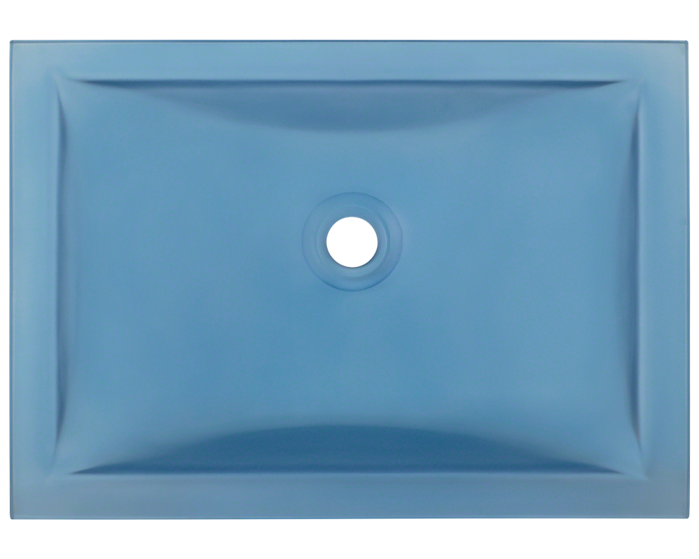 MR Direct UG1913-Aqua Undermount Rectangular Glass Sink