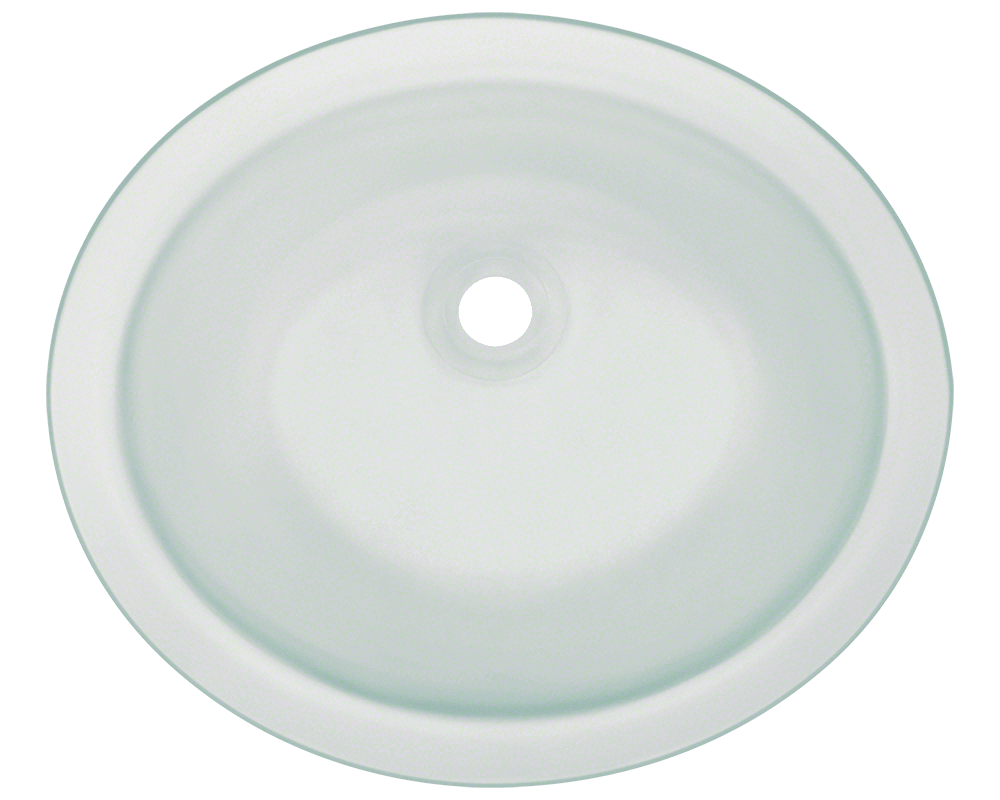 MR Direct UGM-Frosted Undermount Glass Bathroom Sink