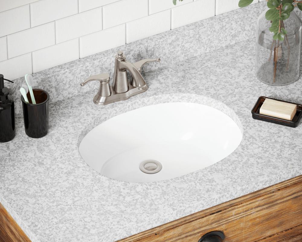 Upl White Porcelain Bathroom Sink