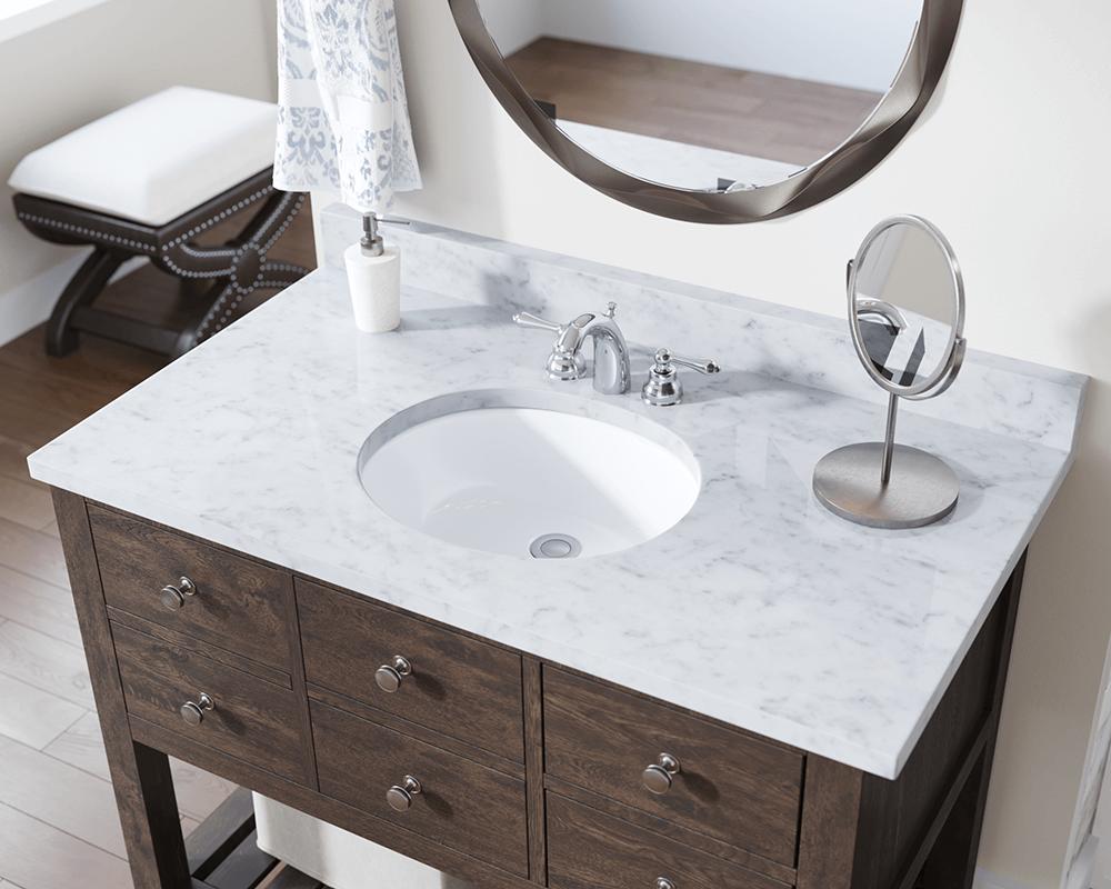 UPM-White Porcelain Bathroom Sink