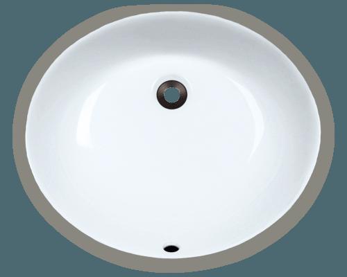 UPM White Porcelain Bathroom Sink