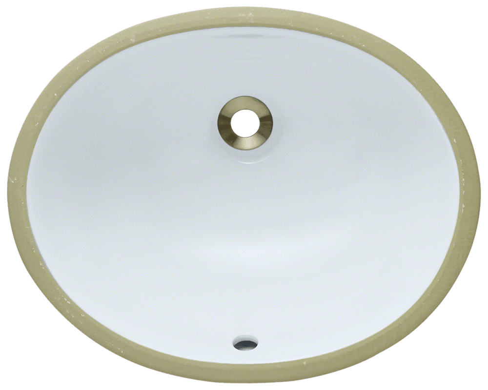 MR Direct UPS-White Porcelain Bathroom Sink