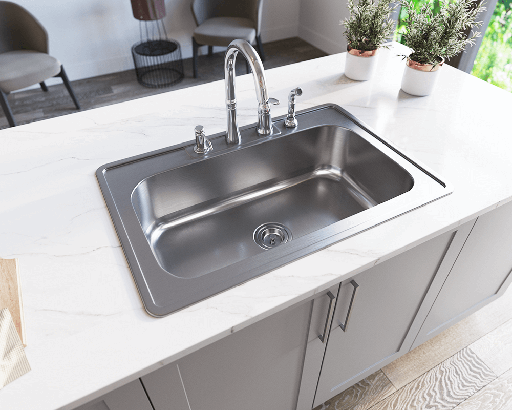 topmount kitchen sink us1030t single bowl topmount stainless steel sink 2866