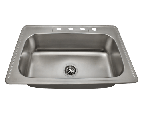 US1030T Single Bowl Topmount Stainless Steel Sink