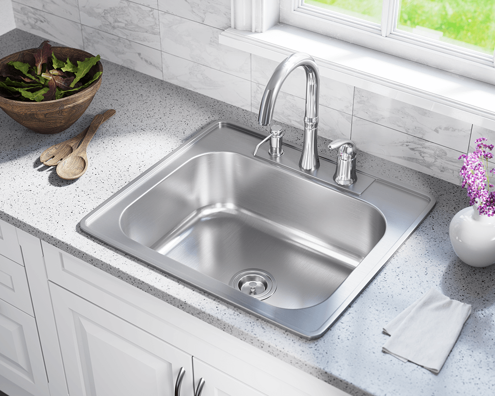 top mounted kitchen sinks us1038t single bowl topmount stainless steel sink 6301
