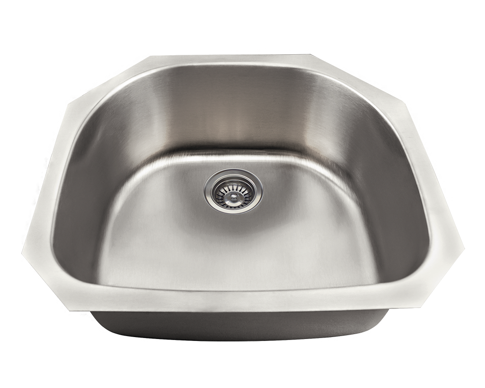 MR Direct US1042 D-Bowl Stainless Steel Kitchen Sink