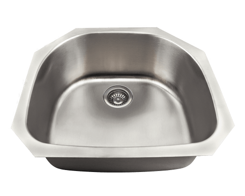 MR Direct US1042 US1042 D-Bowl Stainless Steel Kitchen Sink