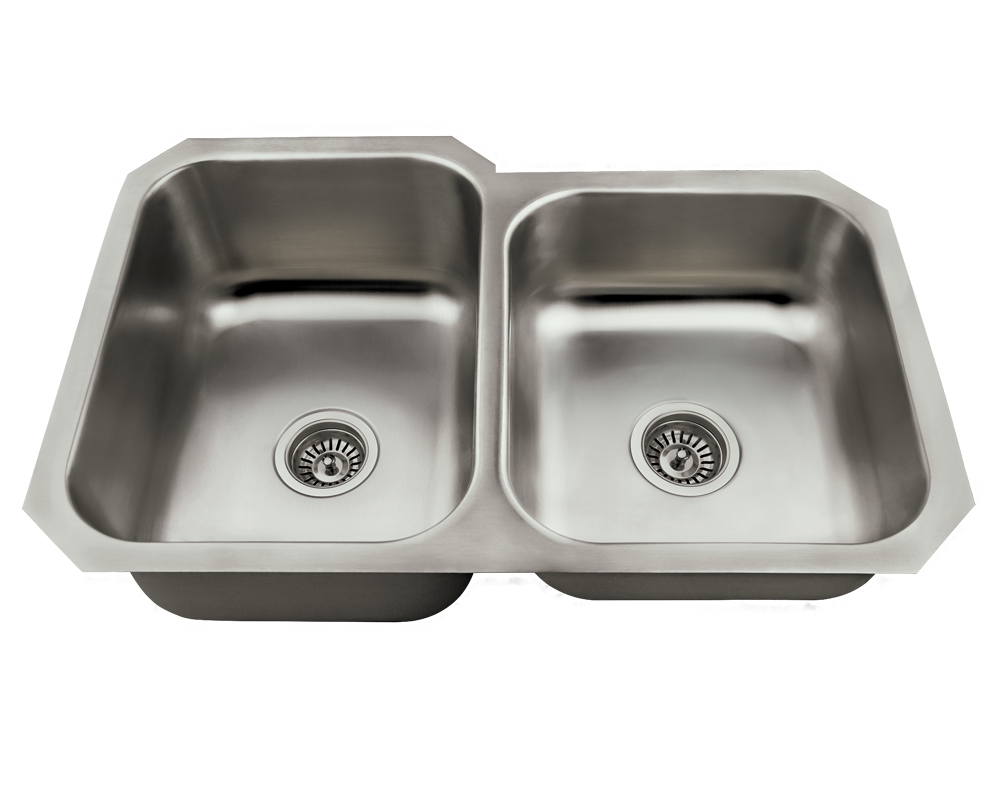 MR Direct US1053L Offset Stainless Steel Kitchen Sink