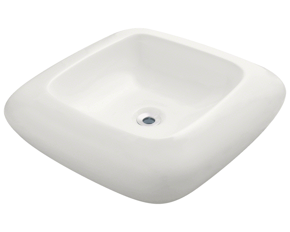 MR Direct V100-Bisque Pillow Top Porcelain Vessel Sink