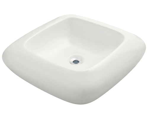 MR Direct V100-Bisque V100-Bisque Pillow Top Porcelain Vessel Sink