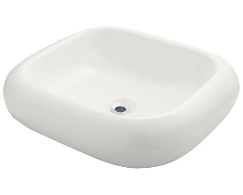 V110-Bisque Pillow Top Porcelain Vessel Sink