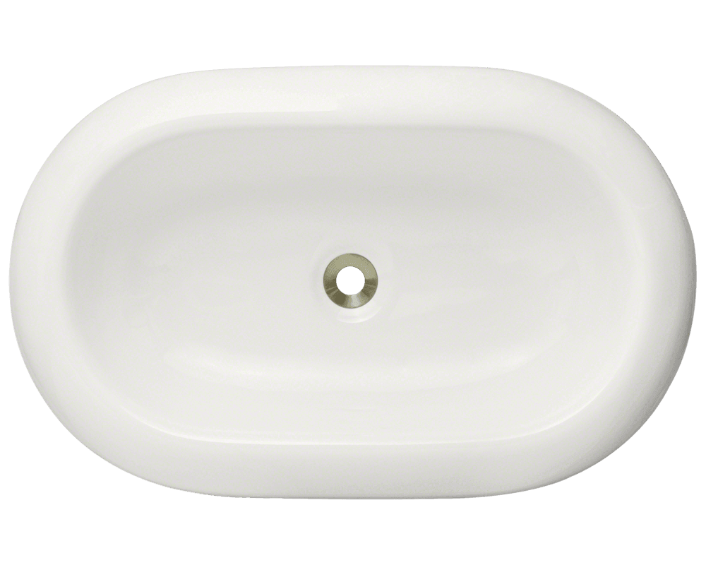 V130-Bisque Alt Image: Vitreous China Oval Vessel Bisque Bathroom Sink