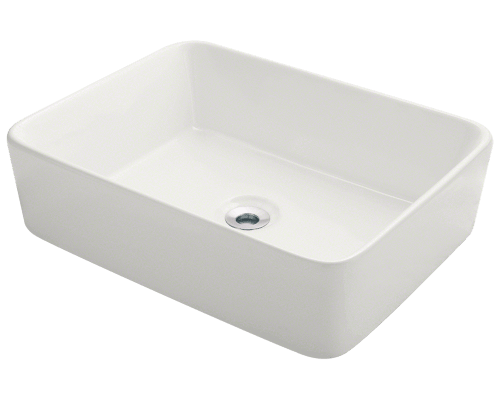 V140-Bisque Porcelain Vessel Sink