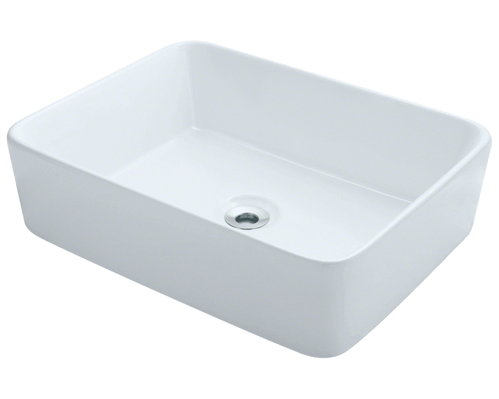 MR Direct V140-White Porcelain Vessel Sink