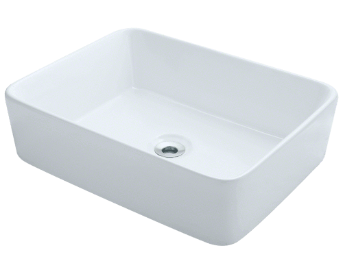 MR Direct V140-White V140-White Porcelain Vessel Sink