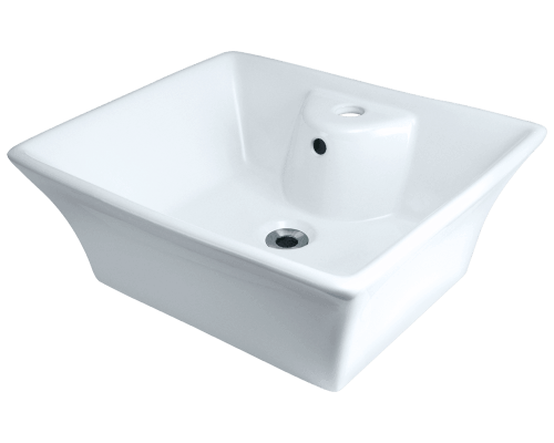 MR Direct V150-White V150-White Porcelain Vessel Sink