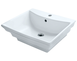 619 Frosted Rainbow Glass Vessel Bathroom Sink