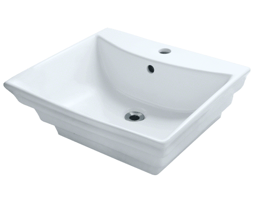 V160-White Porcelain Vessel Sink