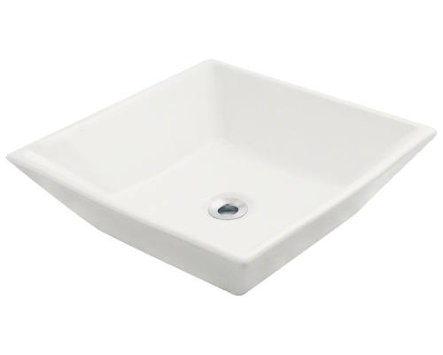 V170-Bisque Porcelain Vessel Sink