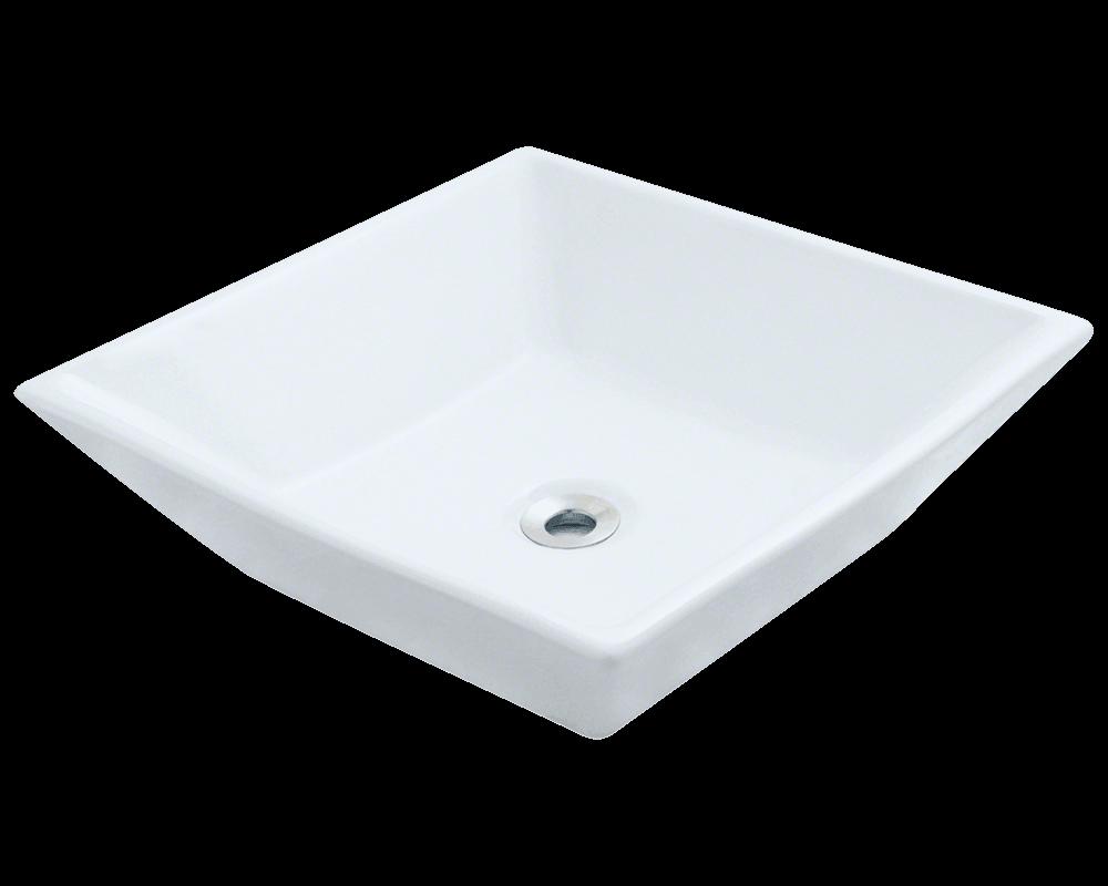 V170 White White Porcelain Vessel Sink