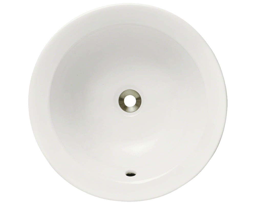 V190-Bisque Alt Image: Vitreous China Round Vessel One Bowl Bathroom Sink