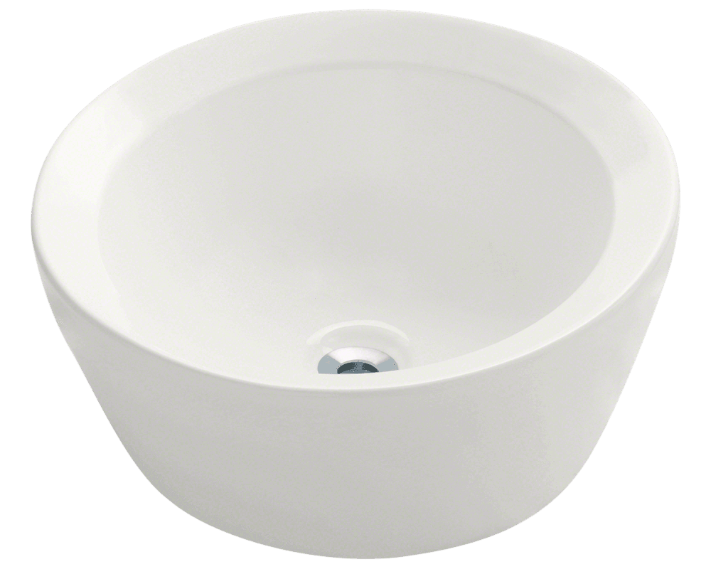 MR Direct V190-Bisque Porcelain Vessel Sink