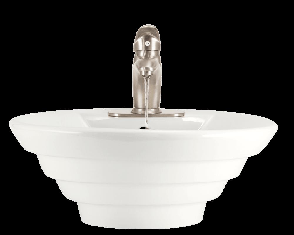V200 Bisque Bisque Porcelain Vessel Vessel Sink