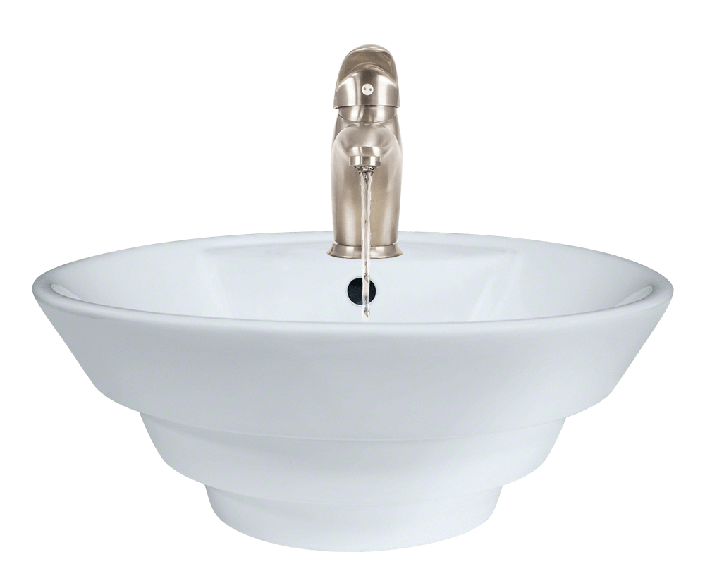 Stainless steel sinks and faucets for kitchens and baths for How to install vessel sink