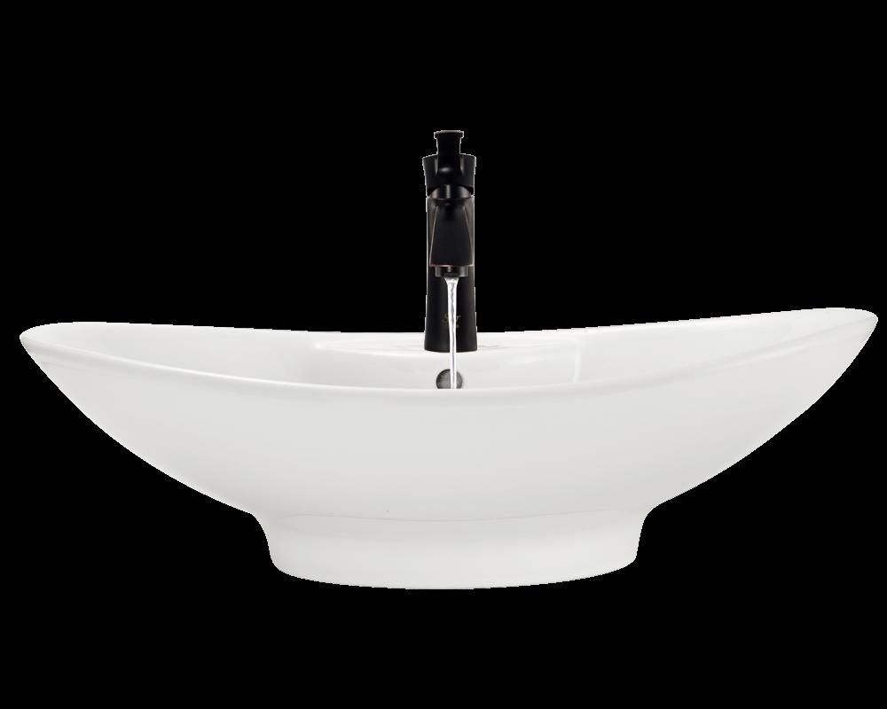 V2102 Bisque Porcelain Vessel Sink
