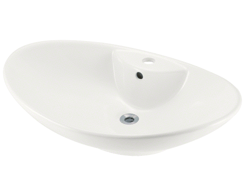 V2102-Bisque Porcelain Vessel Sink