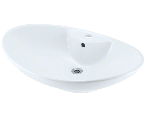 MR Direct V2102-White V2102-White Porcelain Vessel Sink