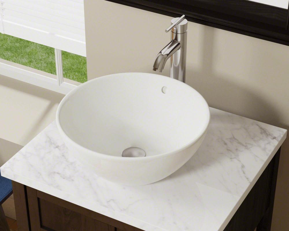 V2200 Bisque Porcelain Vessel Sink