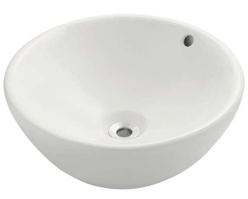 V2200-Bisque Porcelain Vessel Sink