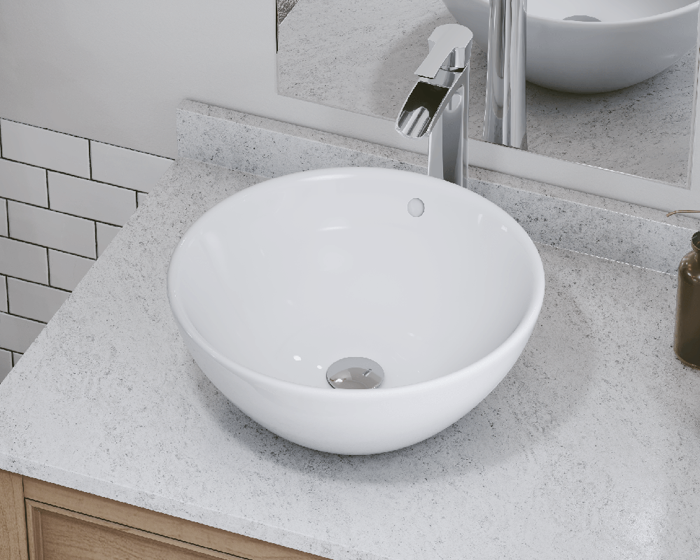 V2200 White White Porcelain Vessel Sink