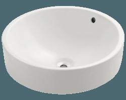O1815 White White Vessel Drop In Porcelain Bathroom Sink