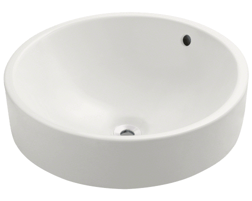 V2218-Bisque Porcelain Vessel Sink