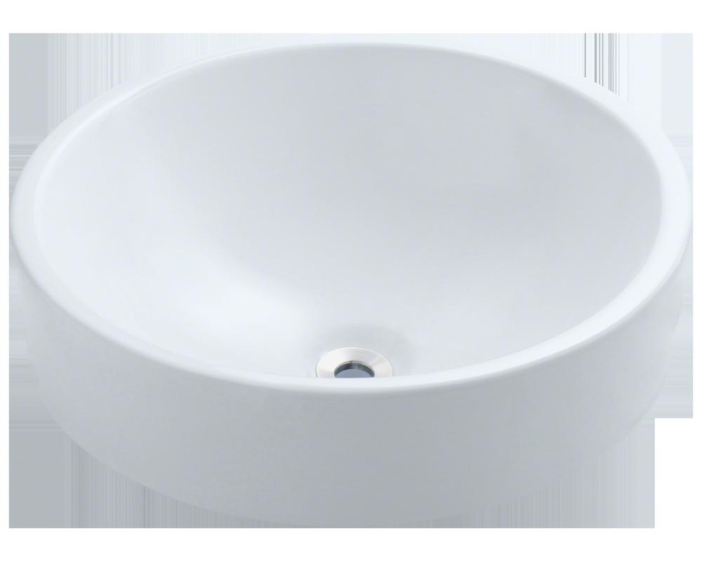 V2218 White Porcelain Vessel Sink
