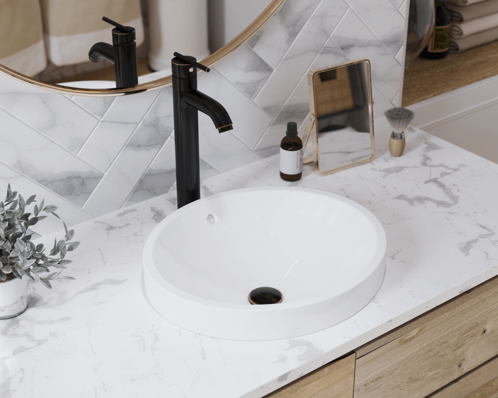 V22182 White White Porcelain Vessel Sink