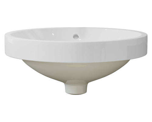 MR Direct V22182-White V22182-White Porcelain Vessel Sink