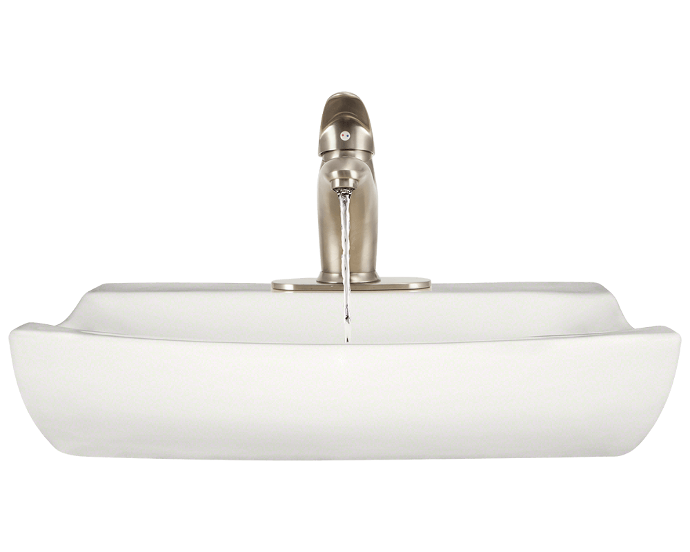V2302-Bisque Alt Image: Vitreous China Vessel Round Bisque Bathroom Sink