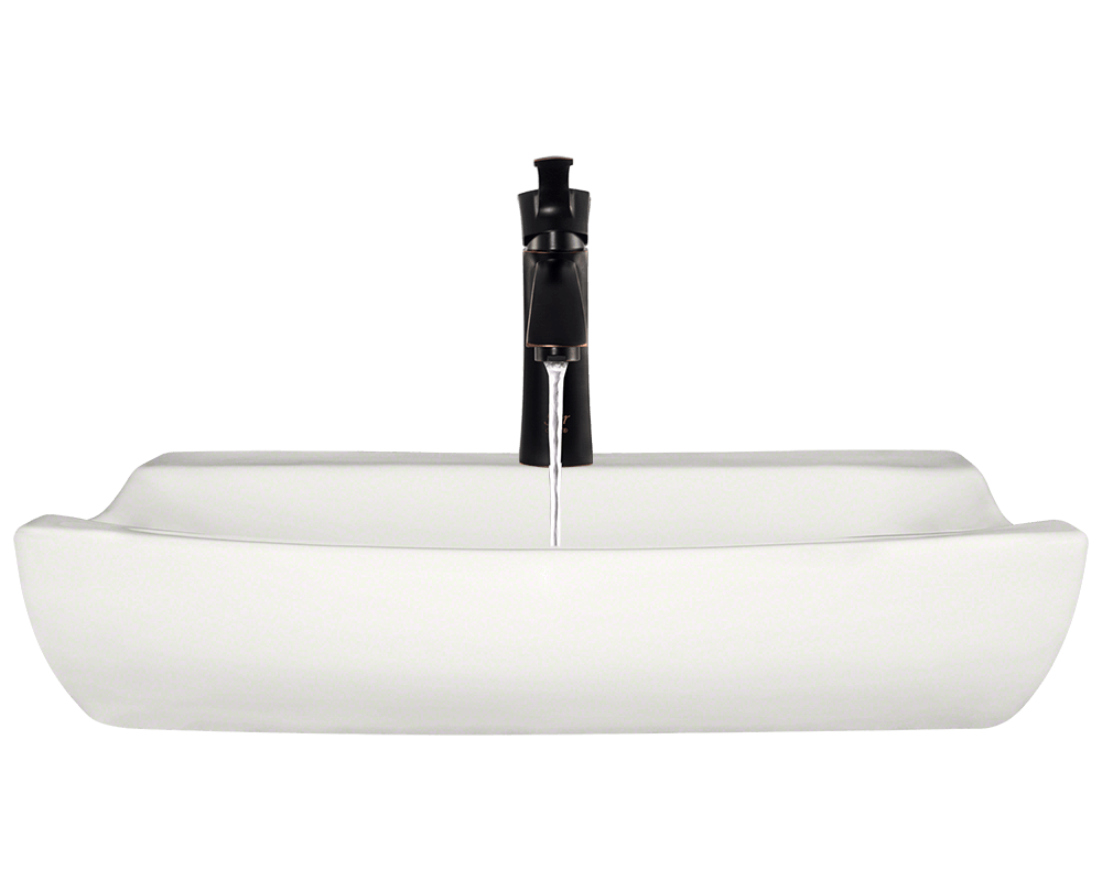 V2302-Bisque Alt Image: Vitreous China Vessel Bisque Round Bathroom Sink