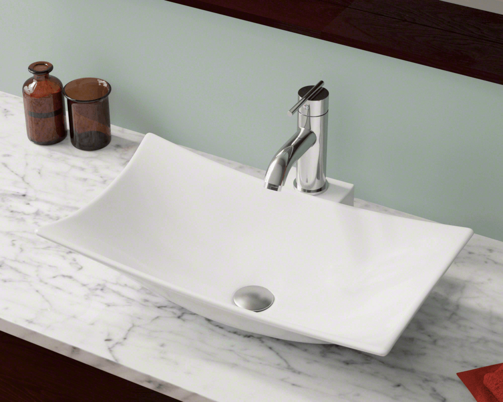 V240 White White Porcelain Vessel Sink