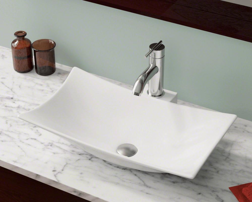 V240 White White Porcelain Vessel Sink